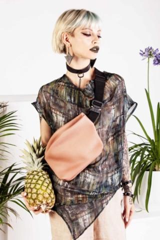 Marsupio in pelle rosa cipria - Cinzia Rossi