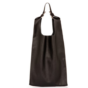 Shopping bag in pelle nera- cinzia rossi