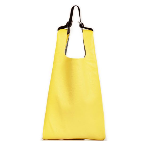 Shopping bag in pelle gialla - cinzia rossi