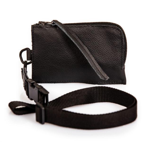 Mini shoulder case in pelle nera