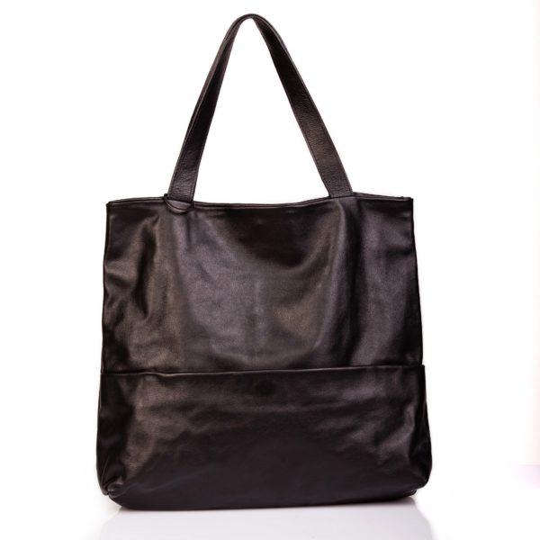 Maxi tote bag in pelle nera - Cinzia Rossi