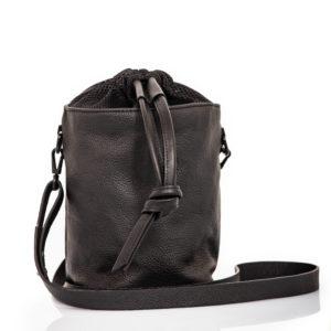 Black leather bucket bag - Cinzia Rossi