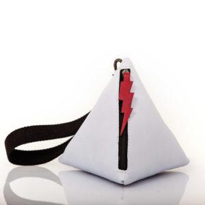 Pochette pyramid in pelle acquamarina - Cinzia Rossi