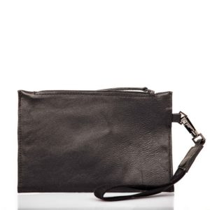 Leather hand clutch bag - Cinzia Rossi