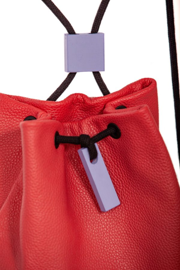 Red leather backpack - Cinzia Rossi