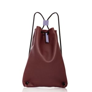 Burgundy leather backpack - Cinzia Rossi