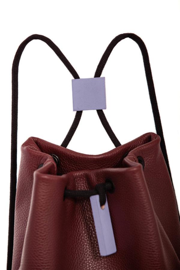 Burgundy leather backpack - Cinzia Rossi