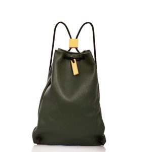 Dark green leather backpack - Cinzia Rossi