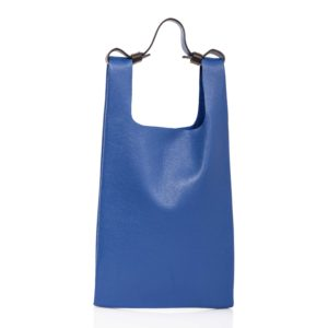 Shopping bag in pelle blu cobalto - Cinzia Rossi