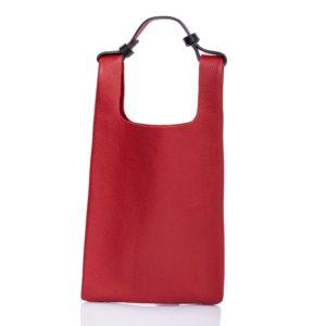 Bolso tote de piel rojo - Cinzia Rossi