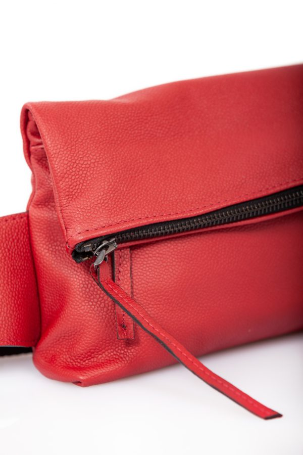 Red leather belt bag - Cinzia Rossi