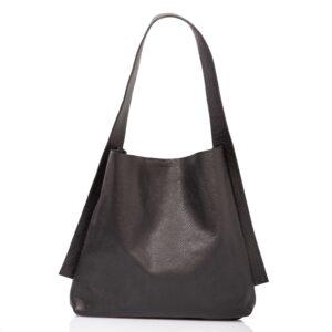 Cabas en cuir noir - Cinzia Rossi