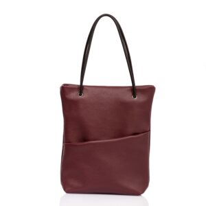 Tote-bag in burgundy leather - Cinzia Rossi