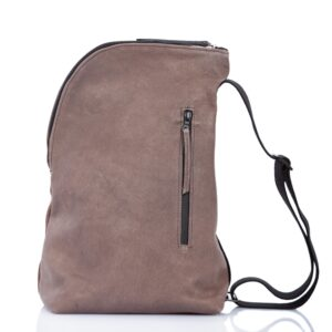 Taupe leather one shoulder backpack - Cinzia Rossi