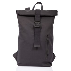 Black technical fabric roll-top backpack - Cinzia Rossi