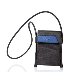 Black leather smartphone case-bag - Cinzia Rossi