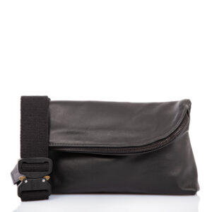 Black leather belt bag - Cinzia Rossi