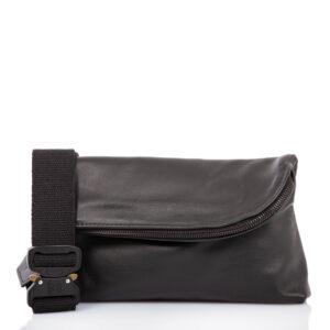 Sac ceinture en cuir noir - Cinzia Rossi