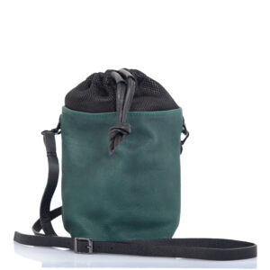 Green leather bucket bag - Padelle Volanti