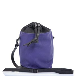 Violet leather bucket bag - Cinzia Rossi