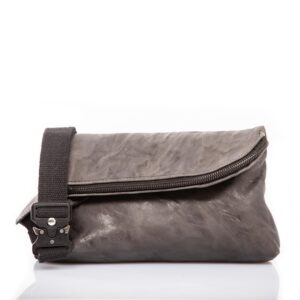 Anthracite leather belt bag - Cinzia Rossi