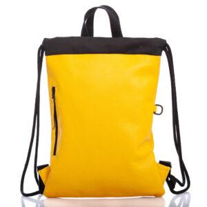 Sac à dos en cuir jaune - Cinzia Rossi