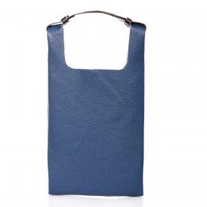 Tote-bag in pelle blu intenso - Cinzia Rossi