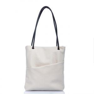 Tote bag in pelle bianca - Cinzia Rossi