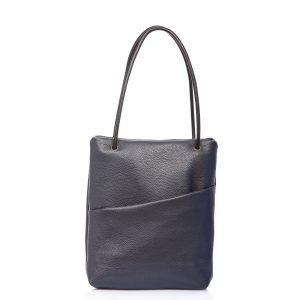 Tote-bag in pelle blu navy - Cinzia Rossi