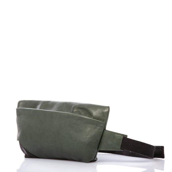 Riñonera en piel verde - Cinzia Rossi