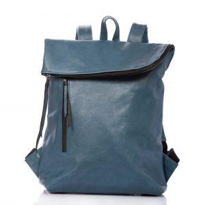 Denim blue leather backpack - Cinzia Rossi
