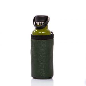 Botella con portabotellas de cuero - Cinzia Rossi