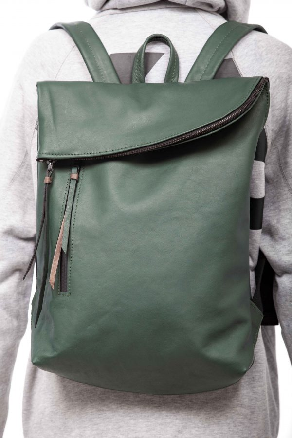 Mochila de cuero verde - Cinzia Rossi